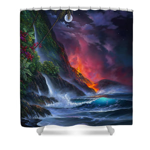Volcano Passion - Shower Curtain