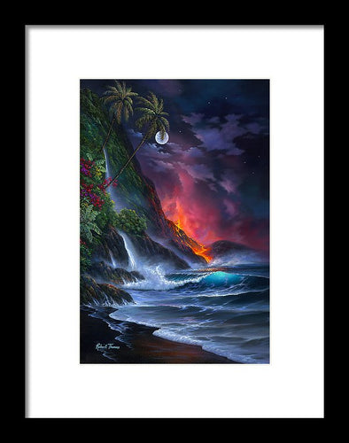 Volcano Passion - Framed Print