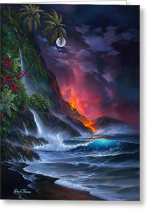 Volcano Passion - Greeting Card