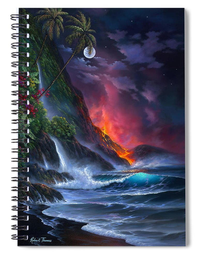 Volcano Passion - Spiral Notebook