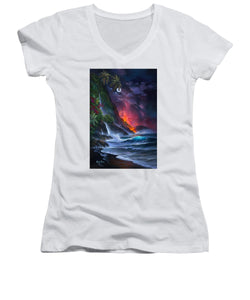 Volcano Passion - Women's V-Neck