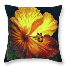 Load image into Gallery viewer, Yellow Hibiscus - Throw Pillow
