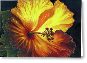Yellow Hibiscus - Greeting Card