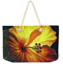 Load image into Gallery viewer, Yellow Hibiscus - Weekender Tote Bag