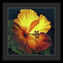 Load image into Gallery viewer, Yellow Hibiscus - Framed Print
