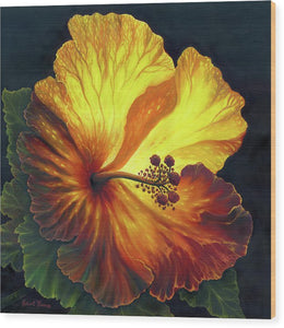 Yellow Hibiscus - Wood Print