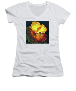 Yellow Hibiscus - Women's V-Neck