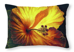 Yellow Hibiscus - Throw Pillow