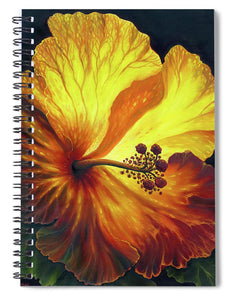 Yellow Hibiscus - Spiral Notebook
