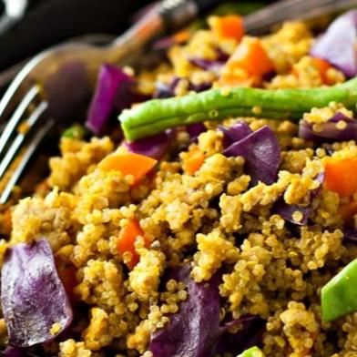 Turmeric Quinoa with Mixed Vegetables