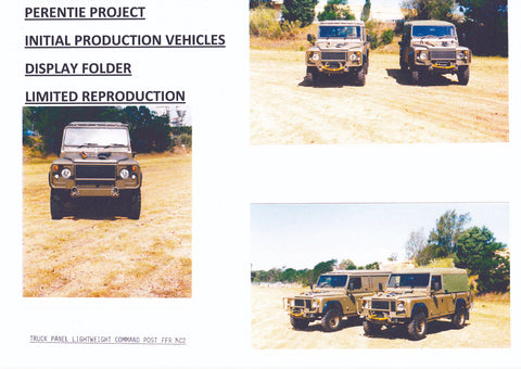 Digital Reproduction of Initial Production Vehicles Display Folder