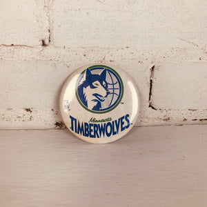 Vintage Minnesota Timberwolves Button
