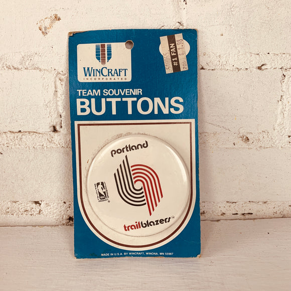Vintage Portland Trailblazers Button