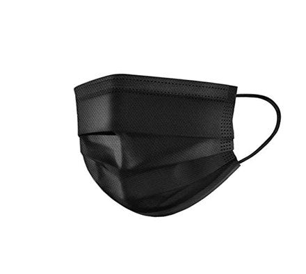 3 ply Face Mask 50's (Black)
