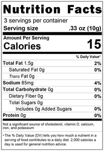 freeze dried black olives 1oz nutrition facts