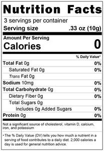 freeze dried celery 1oz nutrition facts