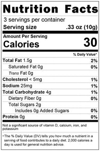freeze dried cheesecake 1oz nutrition facts