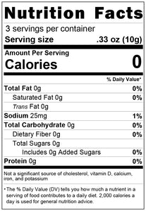 freeze dried green olives 1oz nutrition facts
