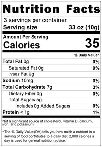 freeze dried gummy bears 1oz nutrition facts