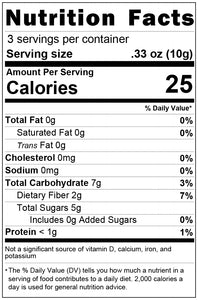 freeze dried red dragon fruit 1oz nutrition facts
