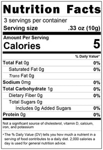 freeze dried small chop mix 1oz nutrition facts