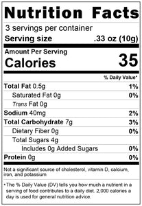 freeze dried taffy 1oz nutrition facts