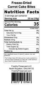Carrot Cake Bites Nutrition Facts