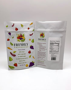 freeze dried berry mix packaging