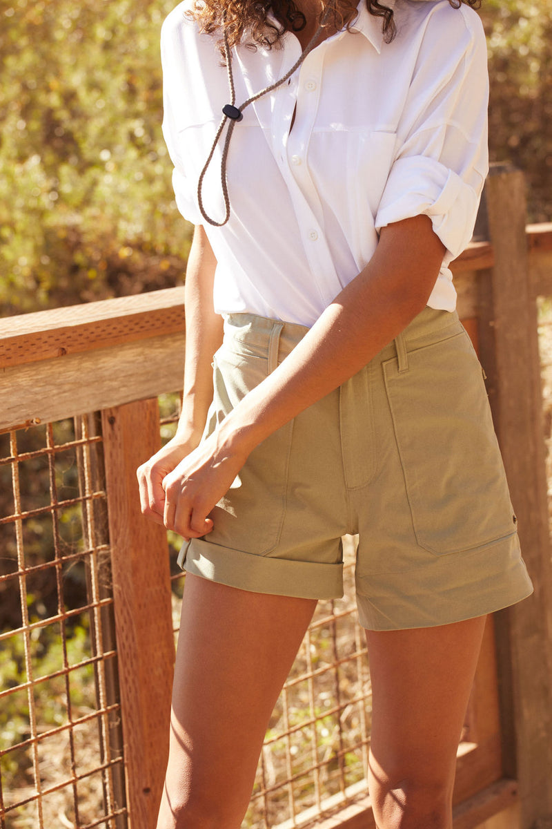 Utility Safari Shorts in Faded Army Green |Faded Army Green