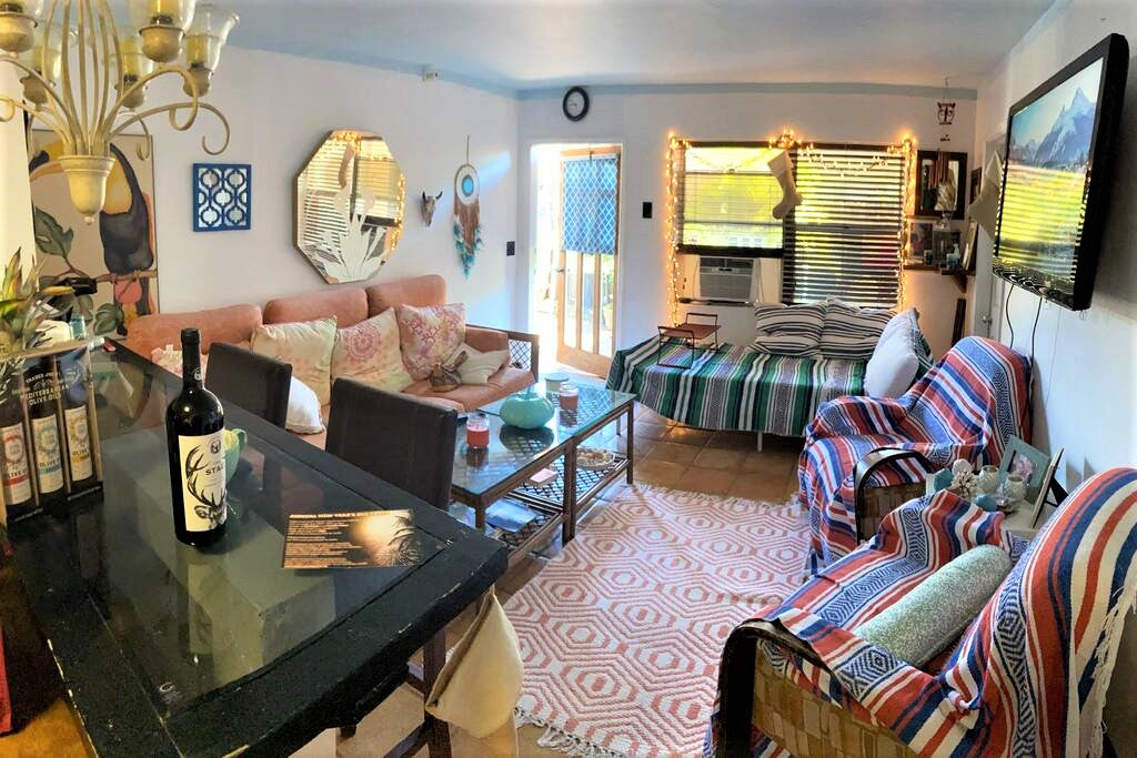 Main Living Area with Day Bed @ My Bohemian Beach House North Hollywood Beach Florida
