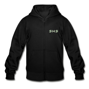 Gildan Heavy Blend Youth Zip Hoodie - black