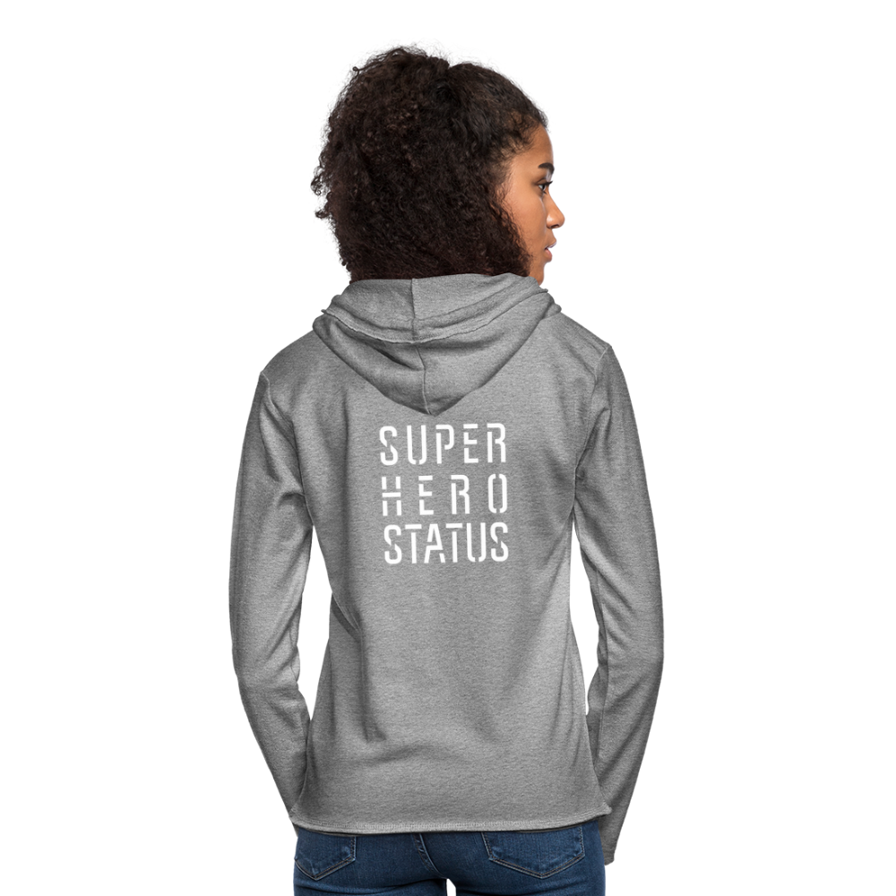 Unisex Lightweight Terry Hoodie - heather gray