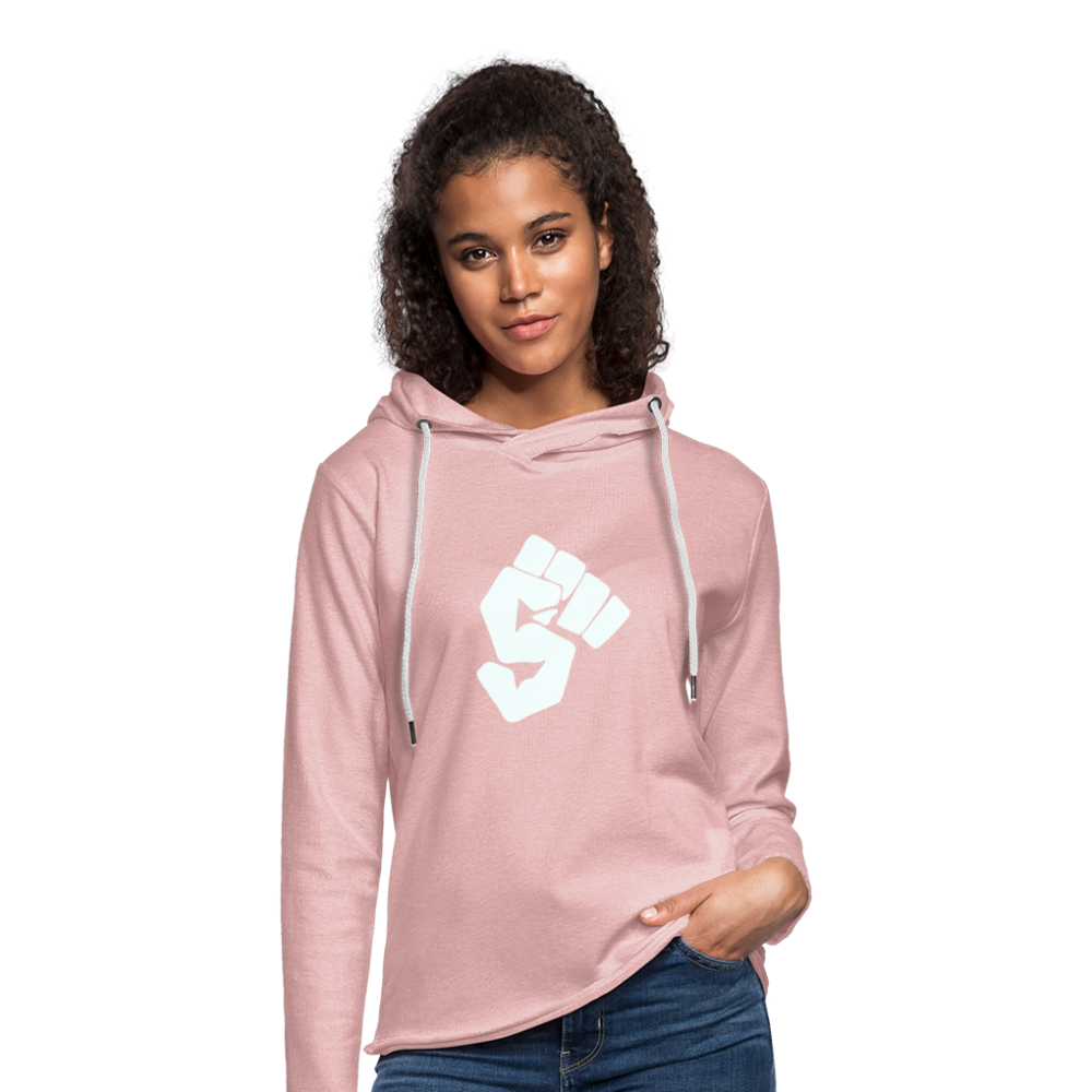Unisex Lightweight Terry Hoodie - cream heather pink