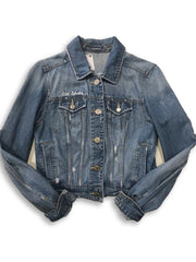 "American Eagle Denim Jacket: ""Flannel Back"" - Fitted Laundry"