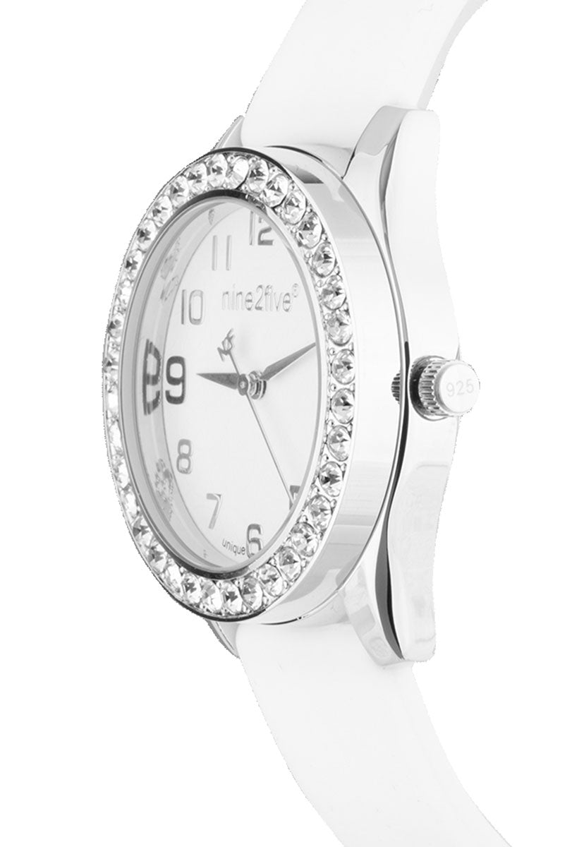 Reloj Nine2Five AVLN11BLSL Bisel y Correa Intercambiables Blanco&Rosa - Nine2Five
