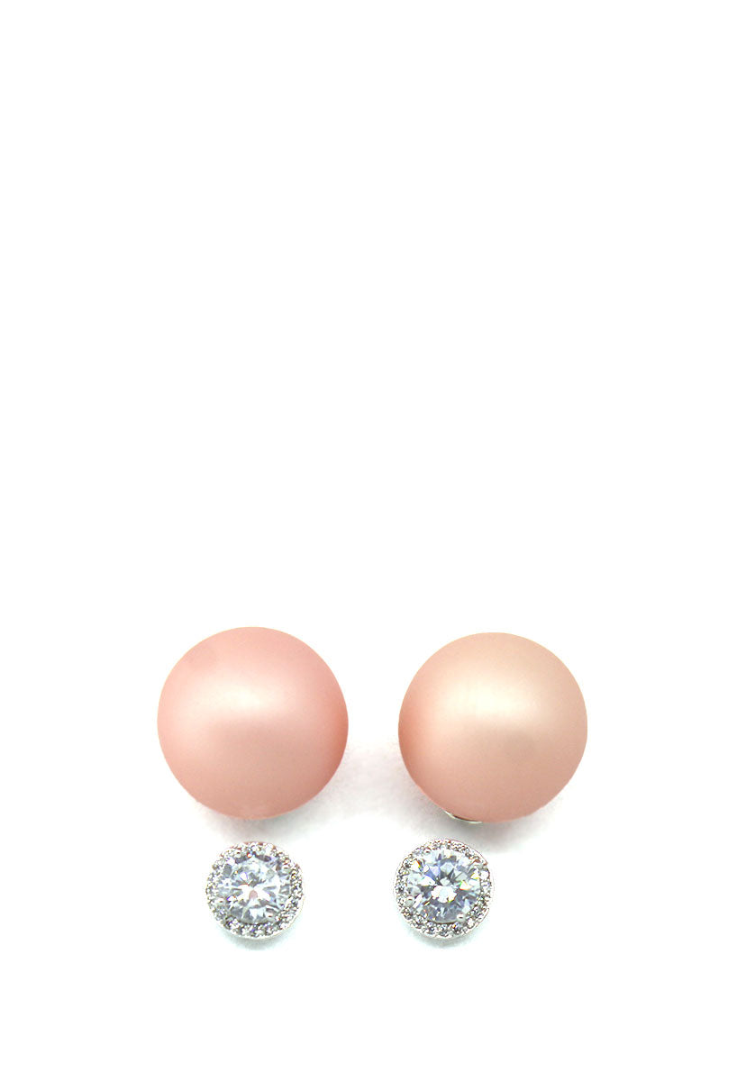 Aretes Diamond Radiant Breanna Color Rosa - Palmas de Reyna