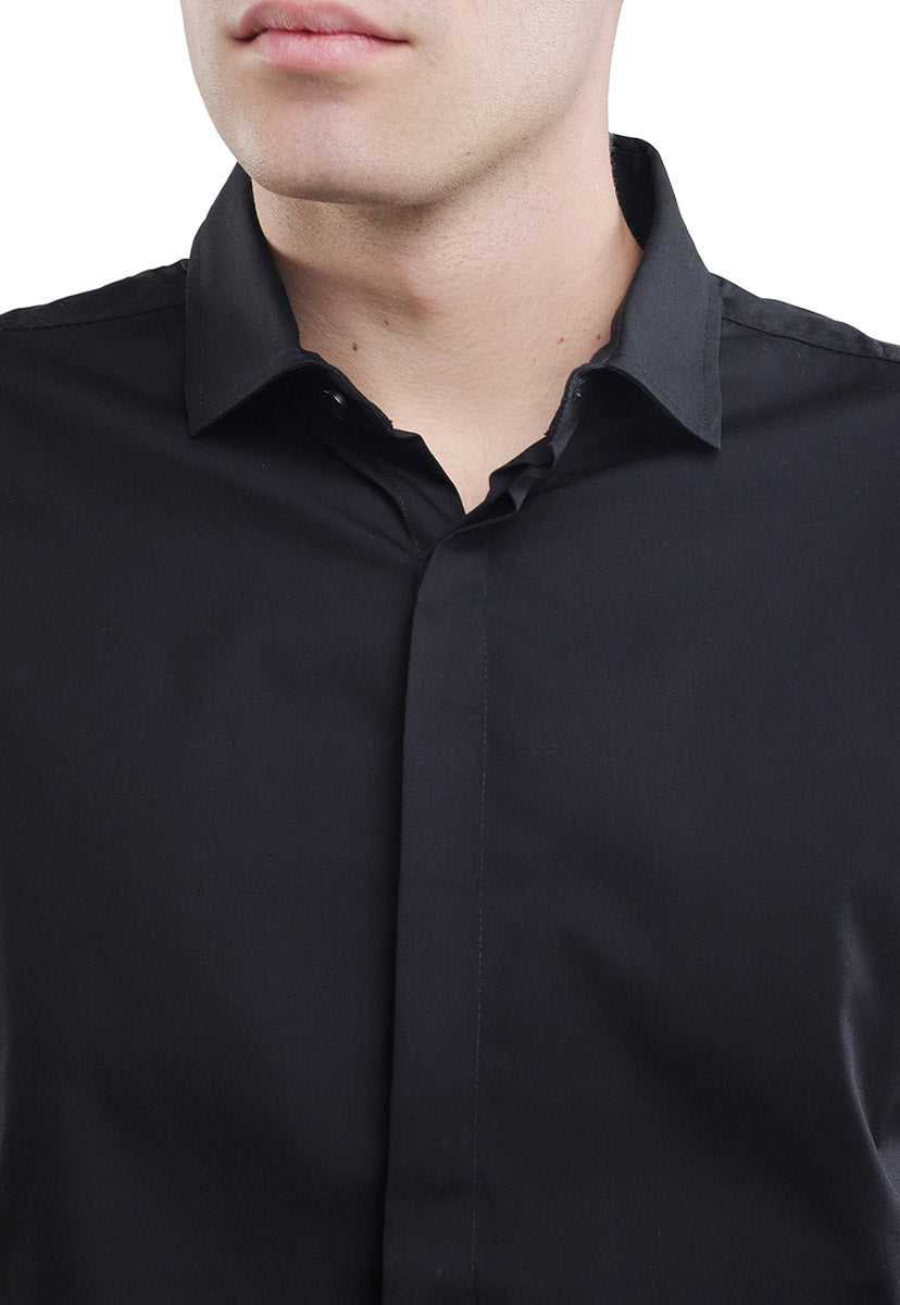 Camisa Regular Fit Negra - LOB