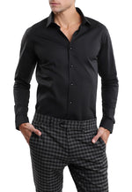 Camisa Oxford A Negro