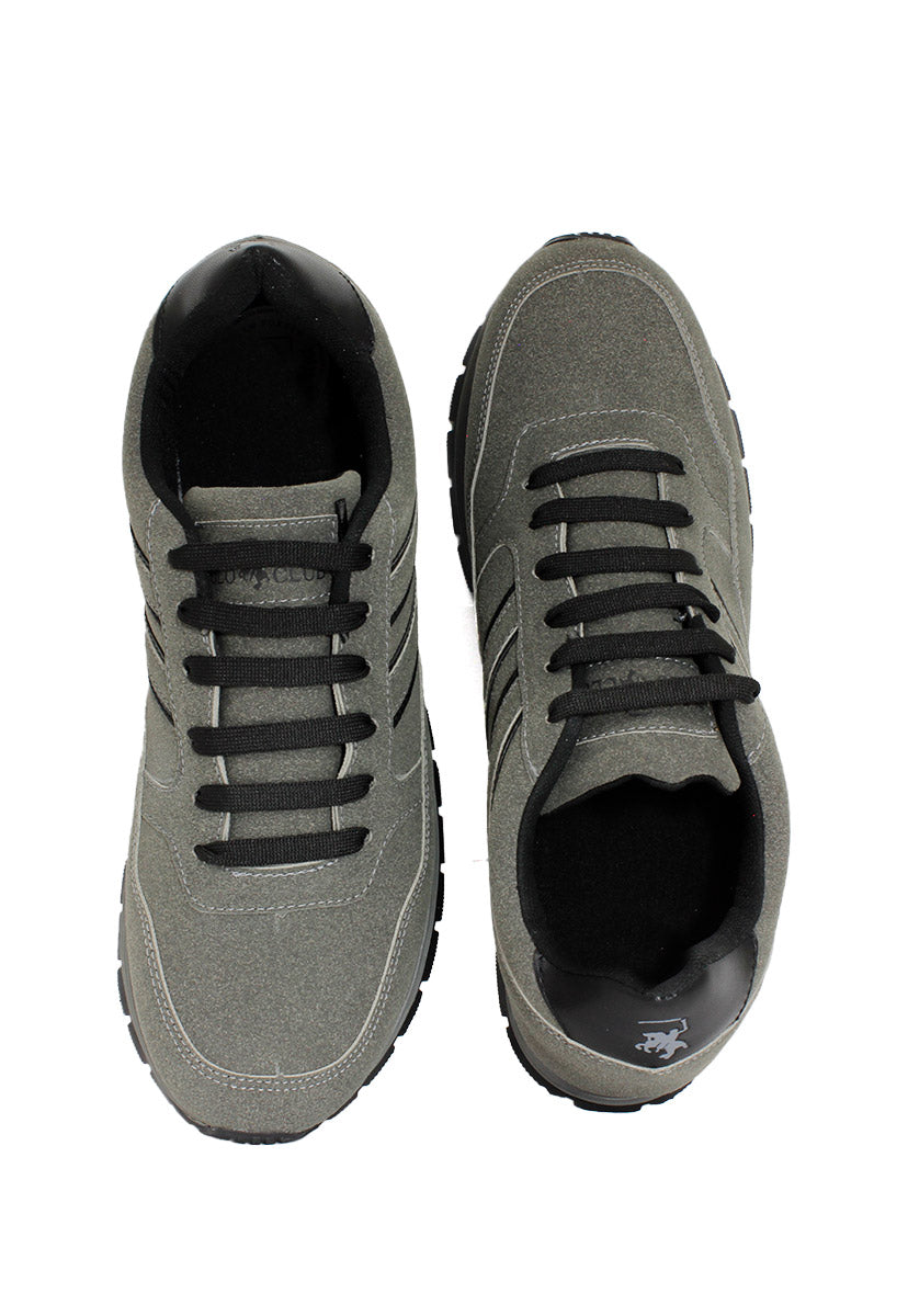 Tenis Deportivo Color Gris/Negro C3500GN - New Forest Polo Club
