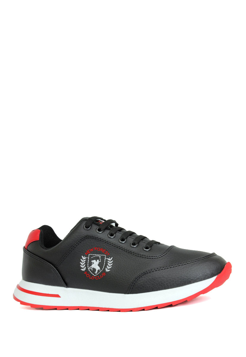 Tenis Deportivo Color Negro/Rojo C5350NR - New Forest Polo Club
