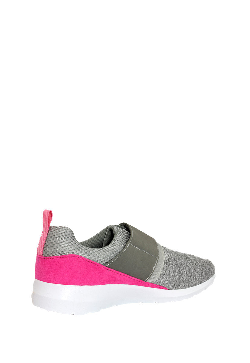 Tenis Deportivo Color Gris/Rosa D1600GR - New Forest Polo Club