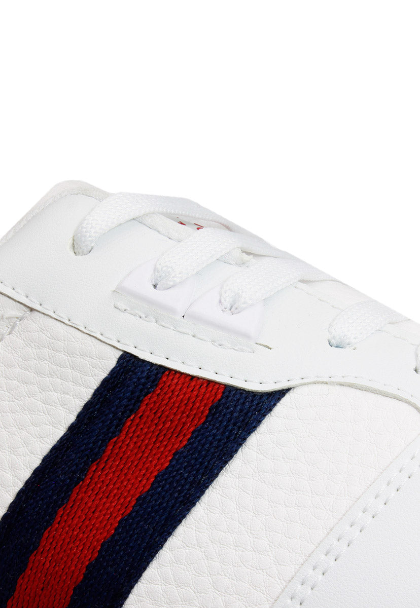 Tenis Casual Color Blanco/Marino/Rojo C3400BMR - New Forest Polo Club