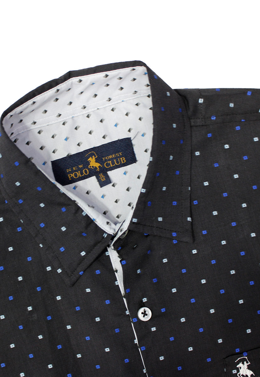 Camisa Casual Color Negro/Azul CAMPOLO65 - New Forest Polo Club