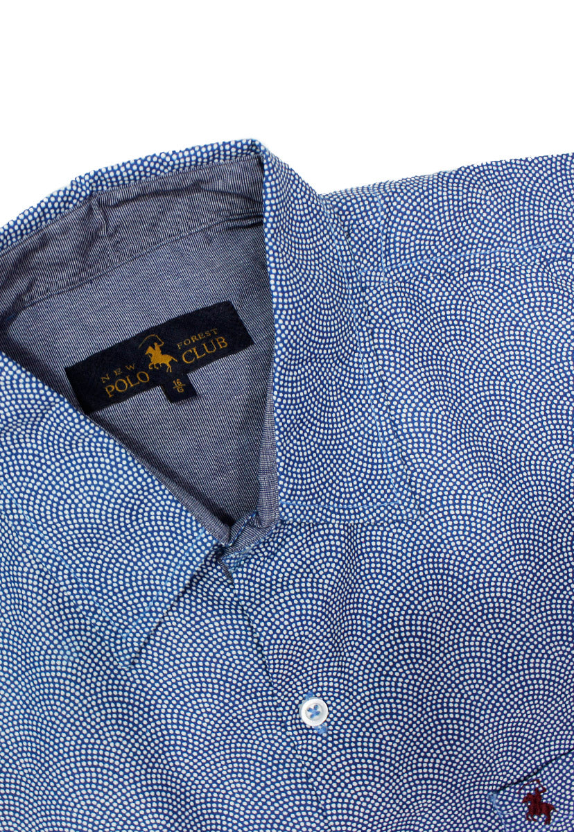 Camisa Casual Color Marino/Blanco CAMPOLO66 - New Forest Polo Club