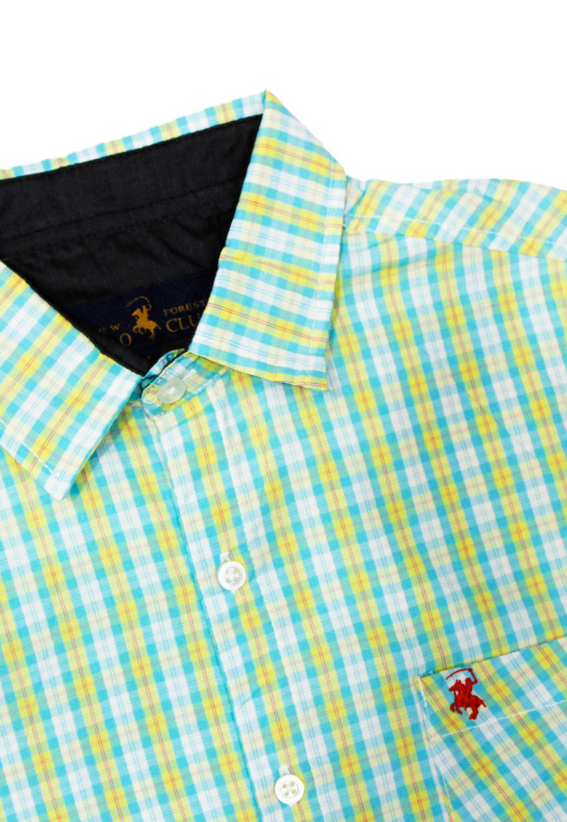 Camisa Casual Color Amarillo/Verde CAMPOLO64 - New Forest Polo Club