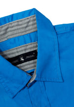 Camisa Casual Color Azul Electrico CAMPOLO103