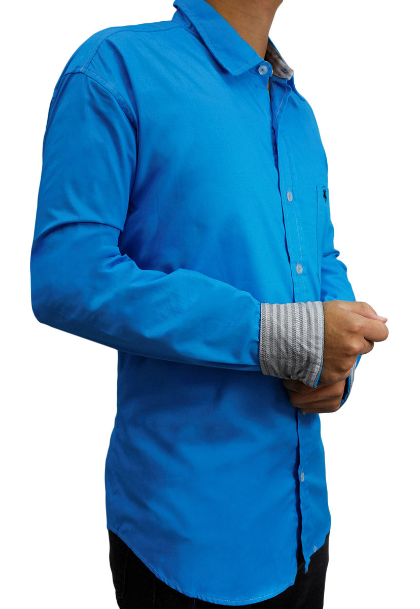 Camisa Casual Color Azul Electrico CAMPOLO103 - New Forest Polo Club