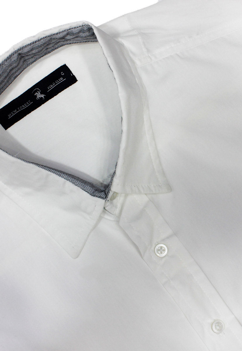 Camisa Casual Color Blanca CAMPOLO102 - New Forest Polo Club