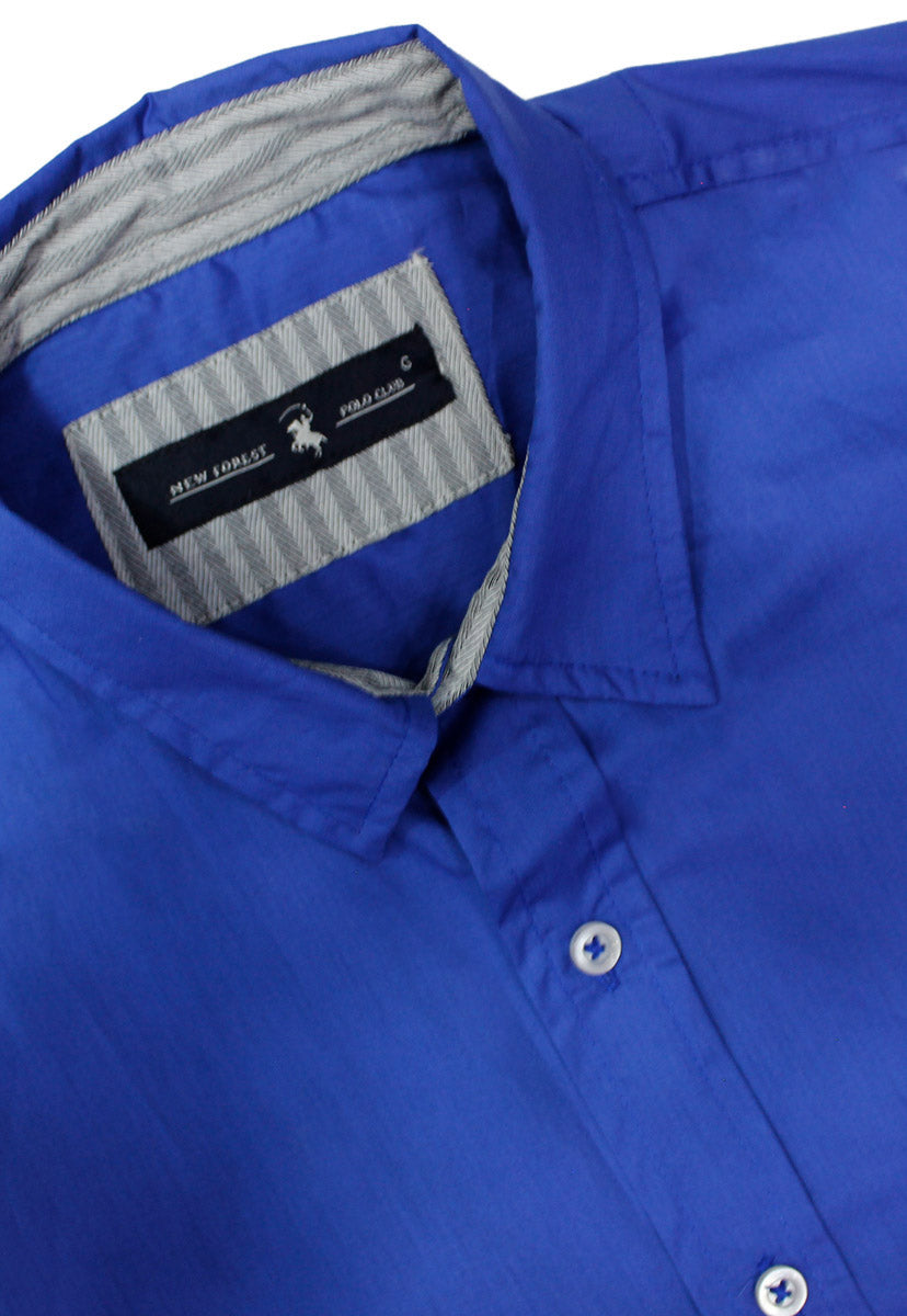 Camisa Casual Color Azul Rey CAMPOLO104 - New Forest Polo Club