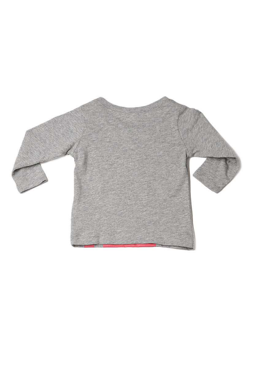 Playera Gris Claro Estampada - Carter's
